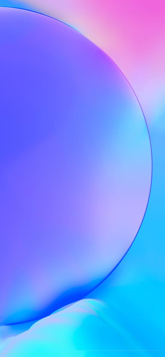 炫丽 蓝色 渐变 圆 抽象