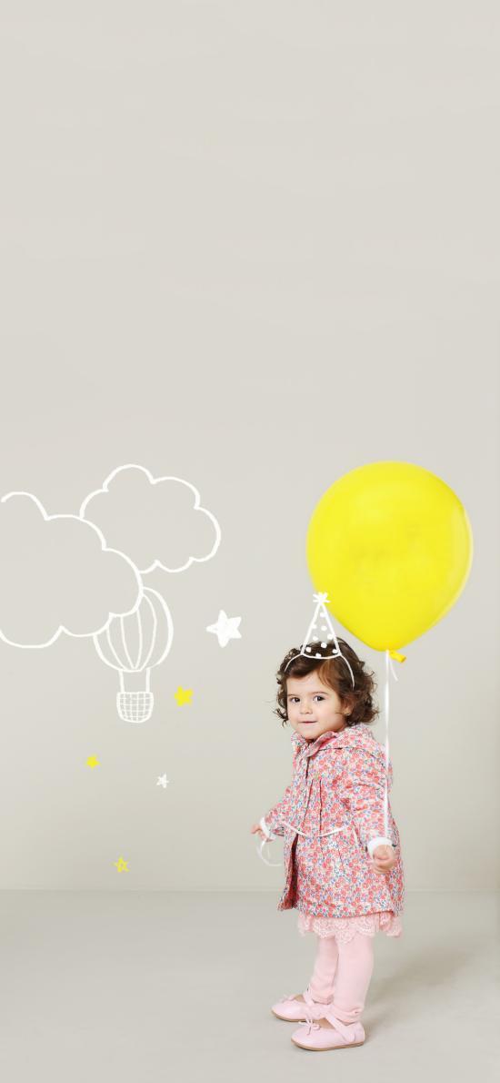 欧美 小女孩 童模 写真 气球