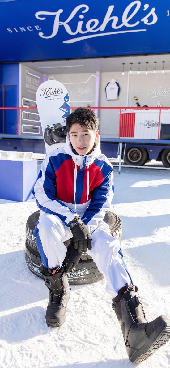 藝人 劉昊然 雪場 滑雪 裝備