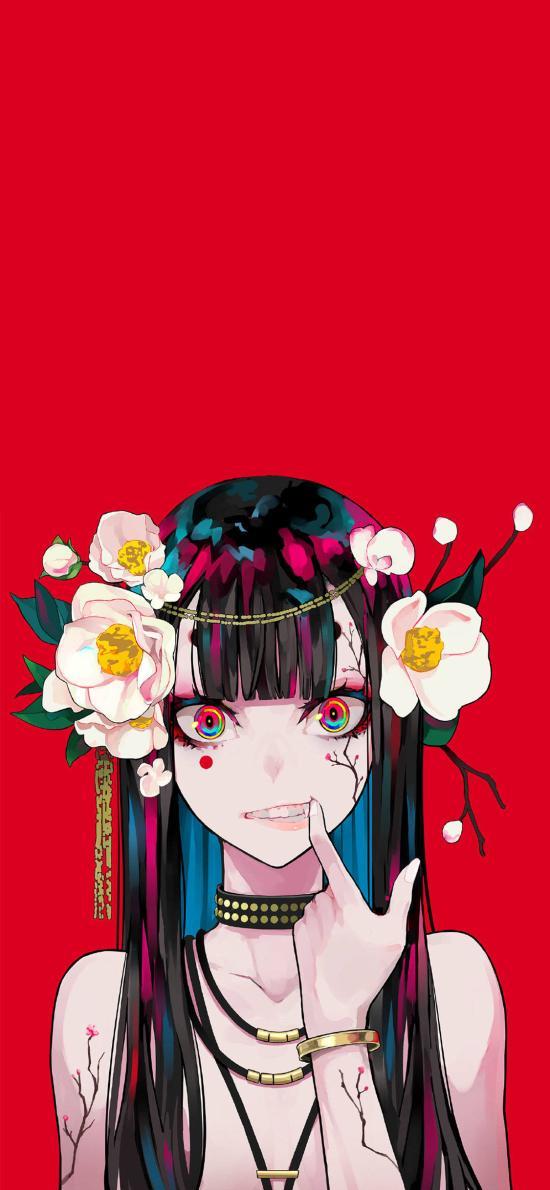 日系 插画 女孩 色彩 动漫