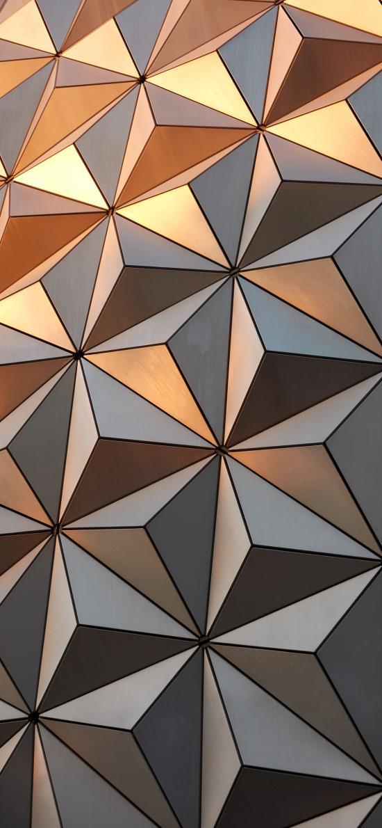 幾何 三角 漸變 拼接