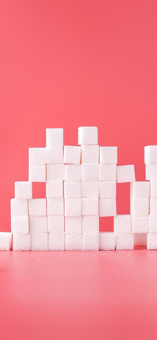 糖块 方块 堆积 排列