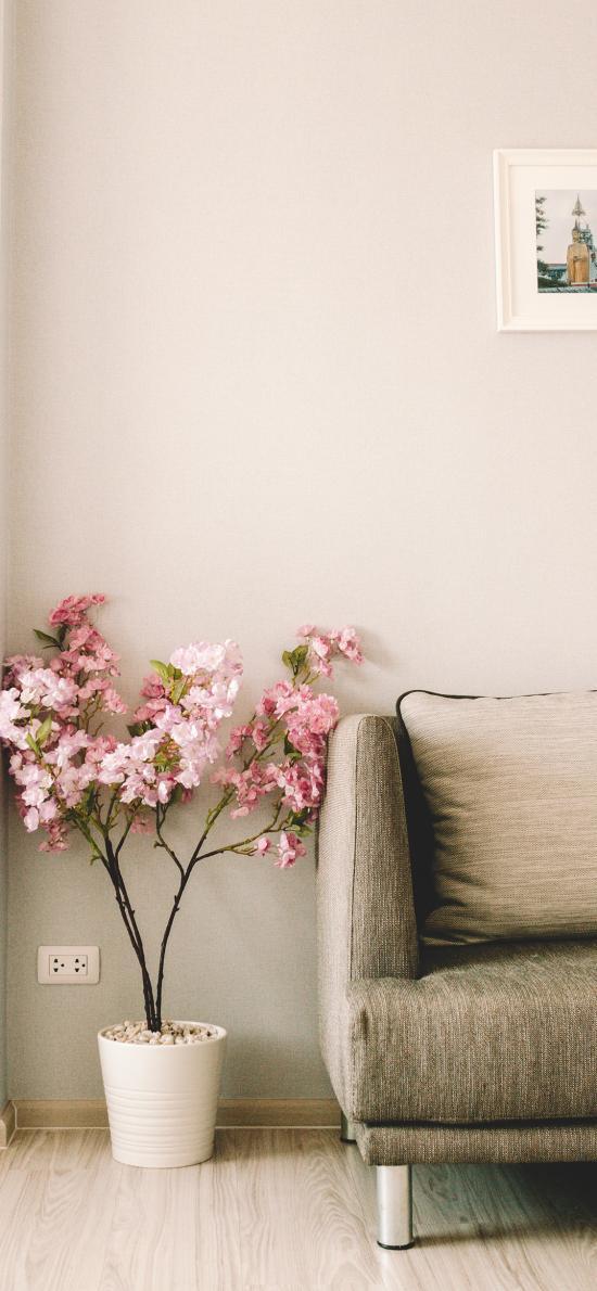 家居 沙發 花盆 綠植 裝飾