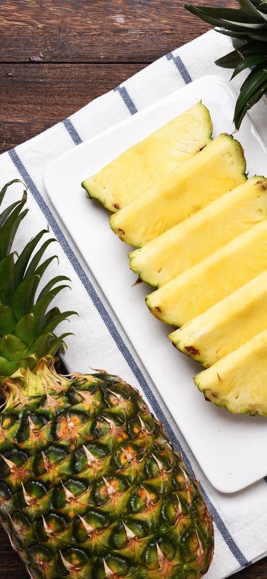 水果 菠萝 凤梨  切块