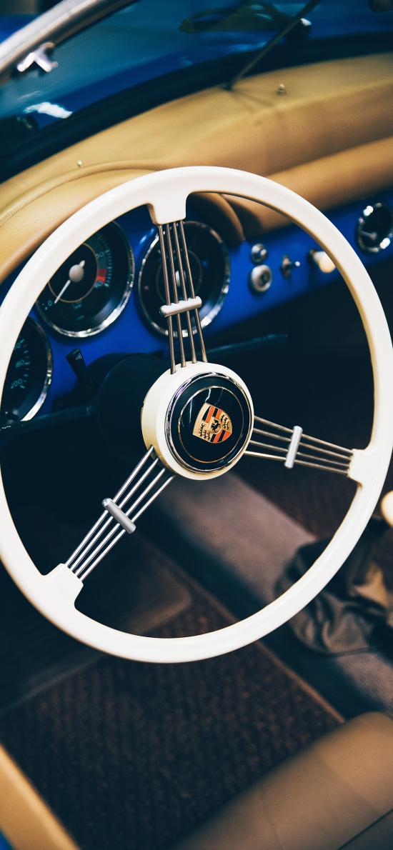 汽车 驾驶 方向盘 保时捷