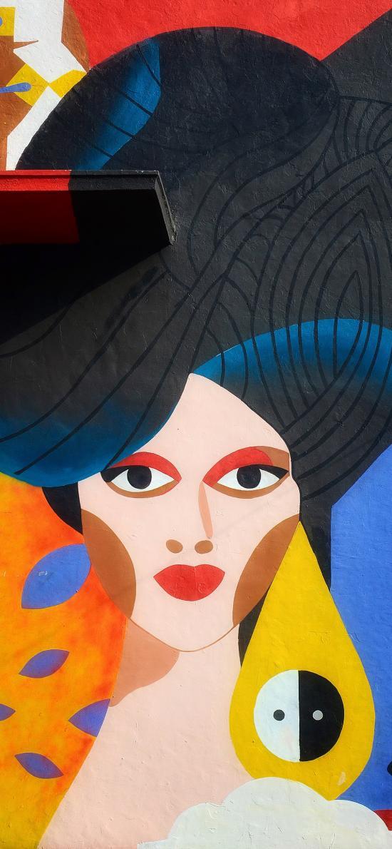 墙绘 色彩 女人 艺术