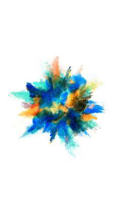 粉末 喷射 发散 炫丽 色彩