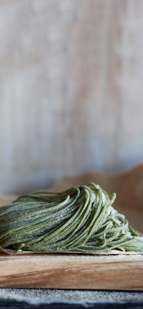 手工 面食 面条 绿色