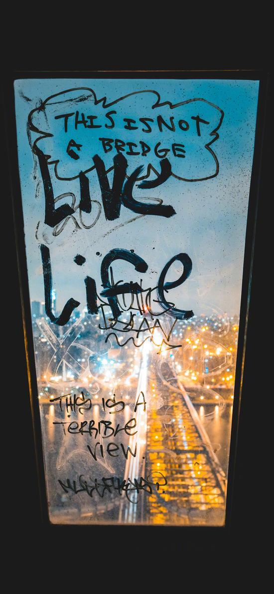 live life 生活 英文 玻璃 窗户