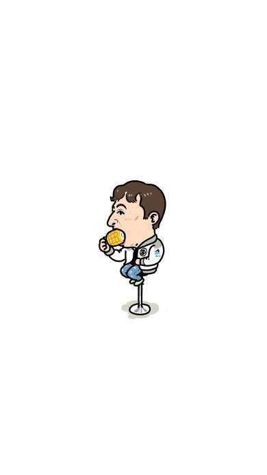 王思聪 吃玉米 绘画 卡通