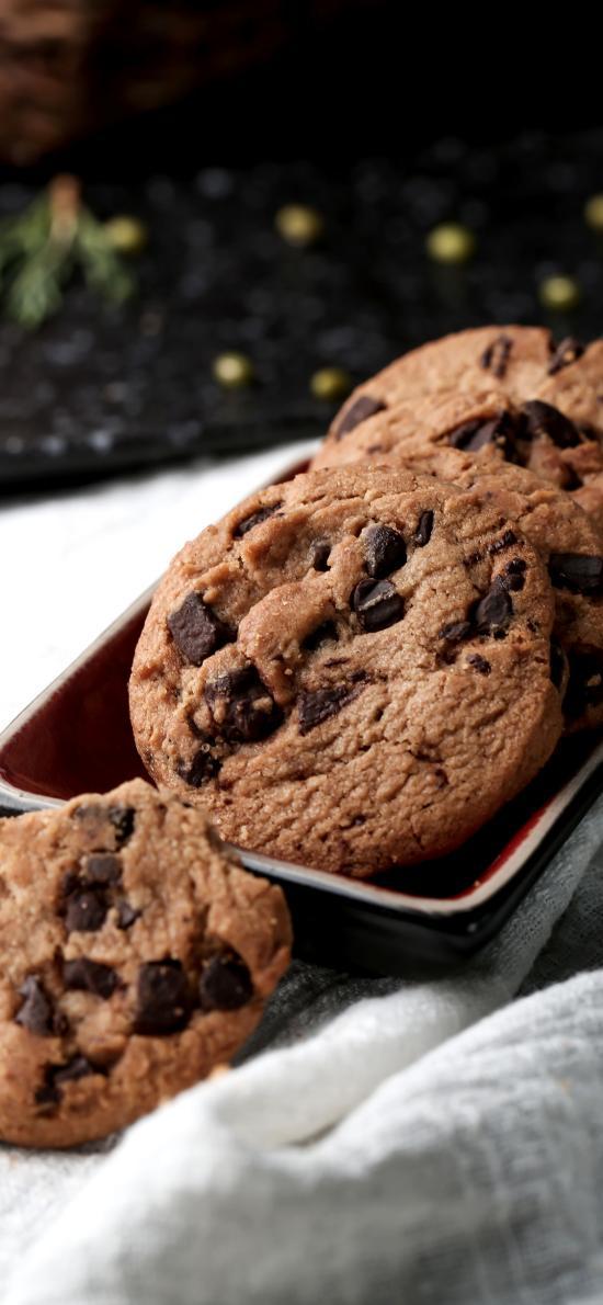 曲奇 饼干 巧克力豆 烘烤