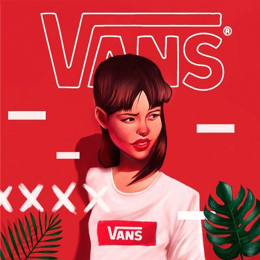 vans 品牌 插画 女孩 个性