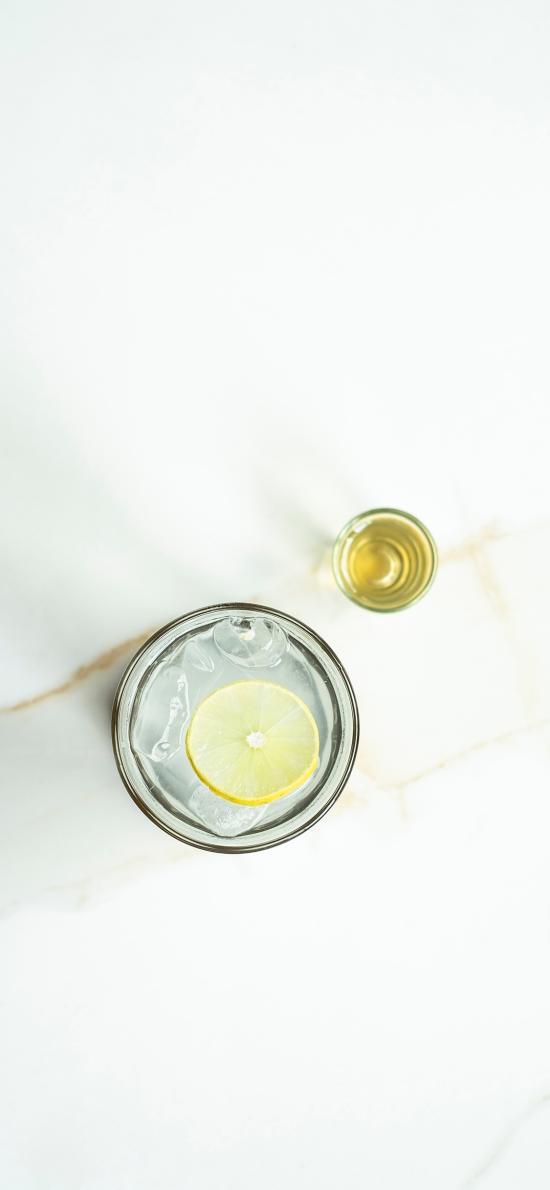 果汁 柠檬 冰块 柠檬 简约