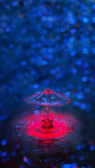 水滴 水珠 滴落 色彩