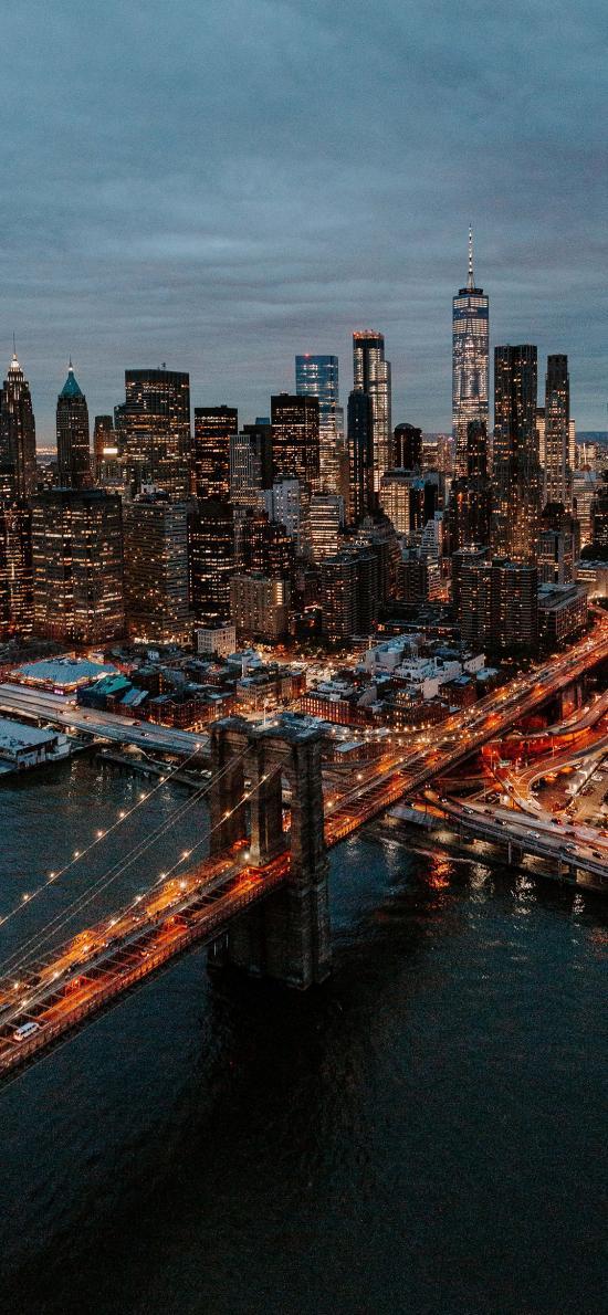 城市 建筑 高楼大厦 桥梁 灯光 夜景