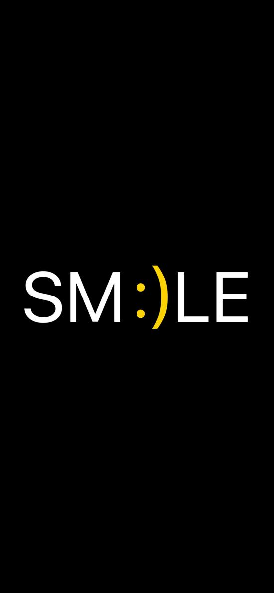 smile 英文 英语 黑色 笑脸 表情