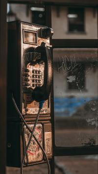 电话亭 电话 怀旧 拨打 联系