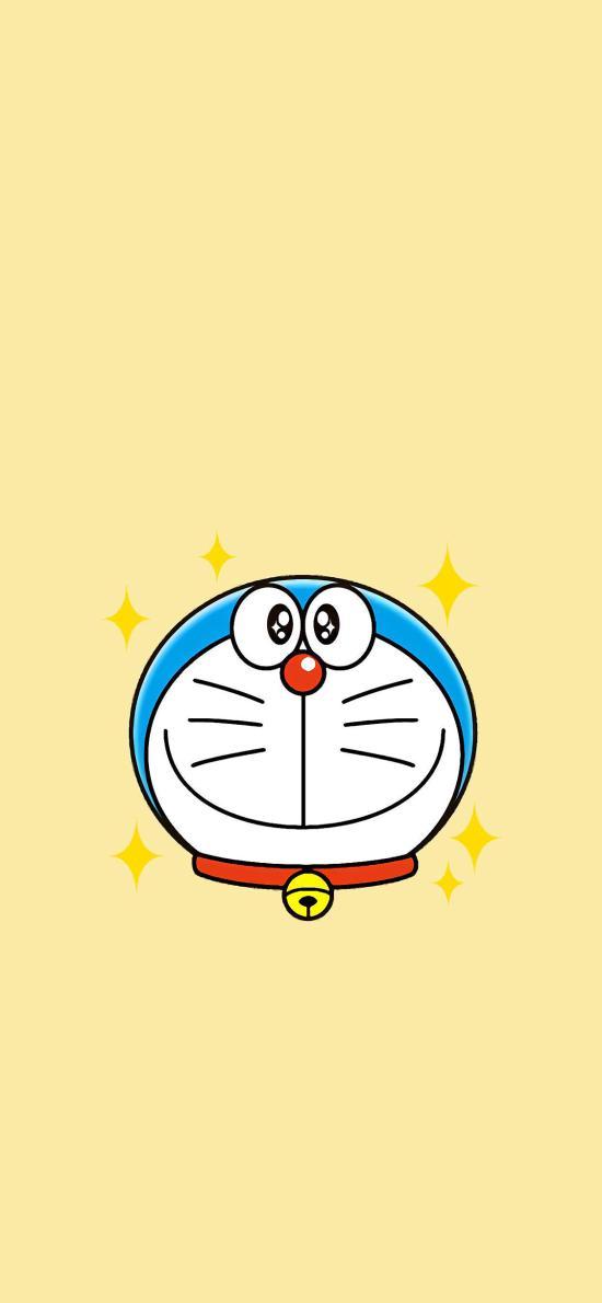 哆啦A梦 动画 日漫 星星 黄
