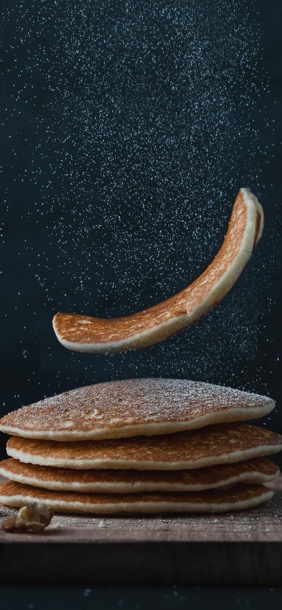 松饼 核桃 糖霜 甜品