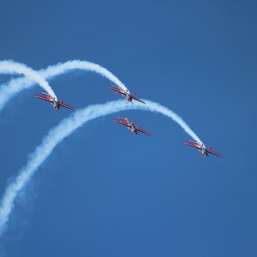 飞机 飞行 航空 蓝色 烟雾