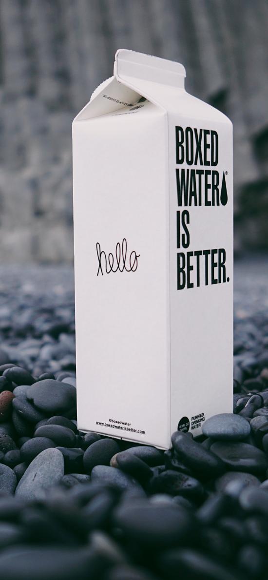 水 盒装水 鹅卵石 包装