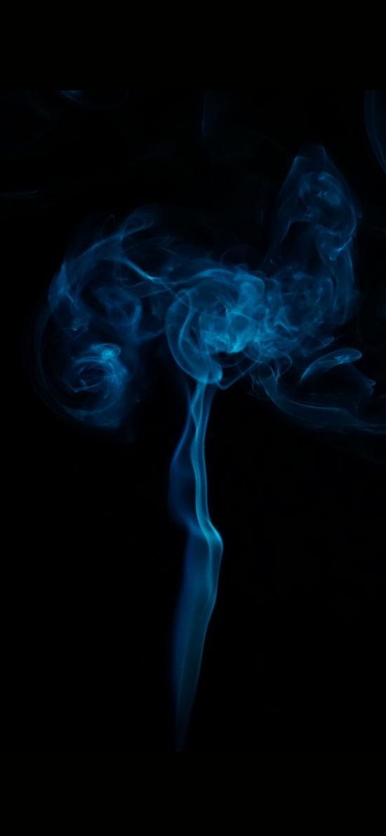 苹果 烟雾 上升 蓝