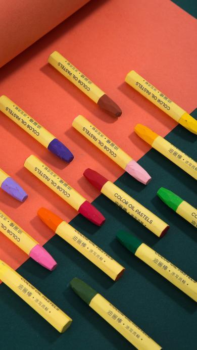 彩铅 铅笔 文具  油画棒