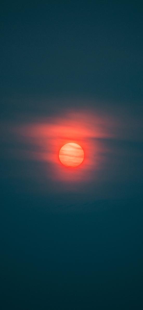 太阳 夕阳 云层 日落