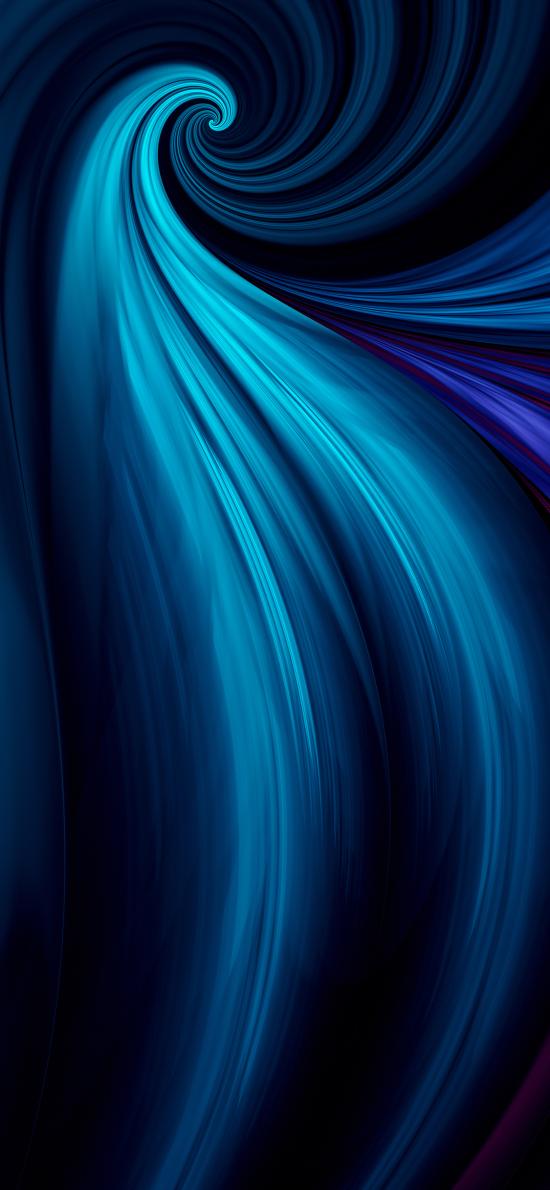 线 流动 渐变 蓝色 螺旋