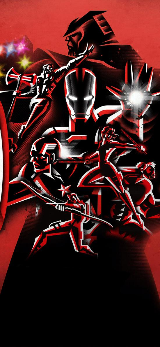 复仇者联盟4 终局之战 电影 海报 超级英雄 红色