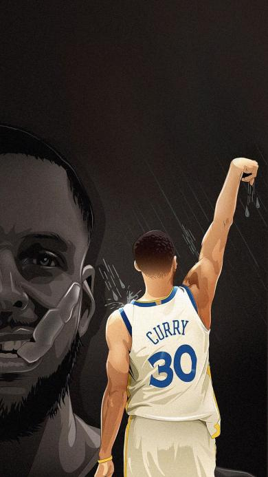 库里 篮球 运动员 NBA 勇士队 背影