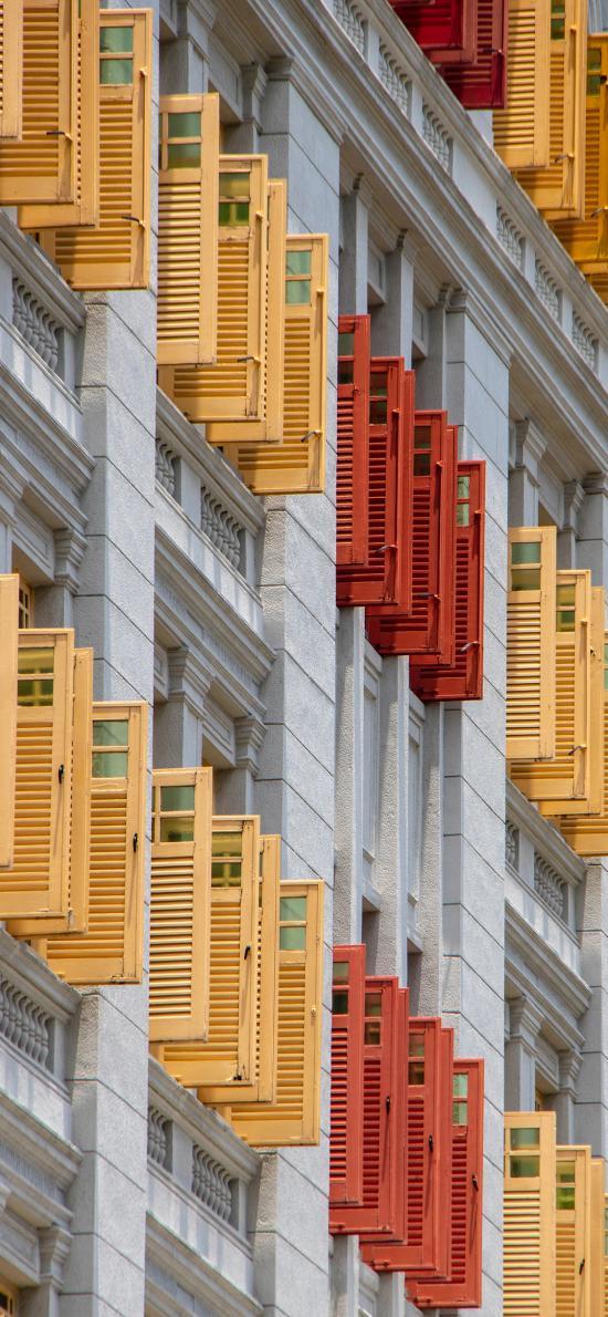 建筑 外墙 窗户 色彩