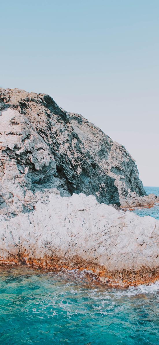 海岸 海水 礁石 海浪