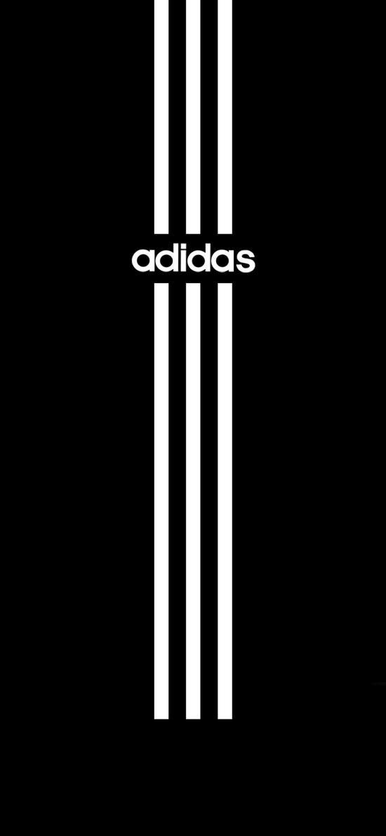 Adidas 运动 品牌 黑色 线条 logo