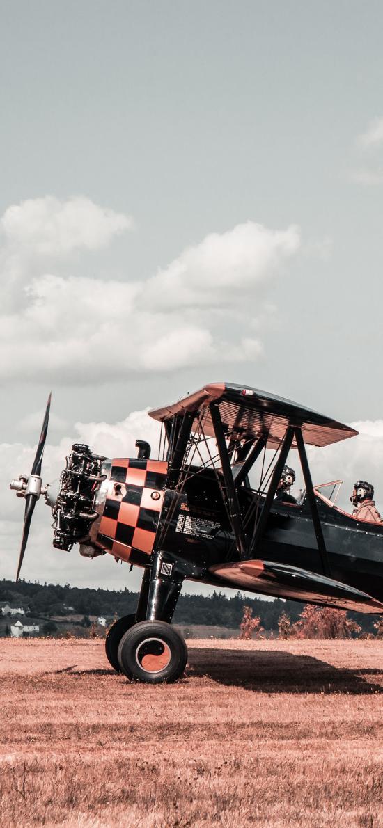 飞机 航空 复古 驾驶员 螺旋桨