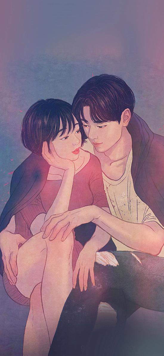 zipcy 韩国插画 爱情 唯美 情侣