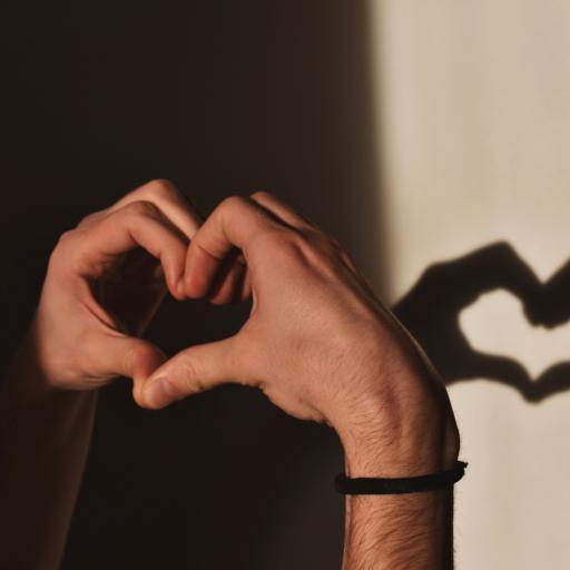 比心 爱心 爱情 手势 影子