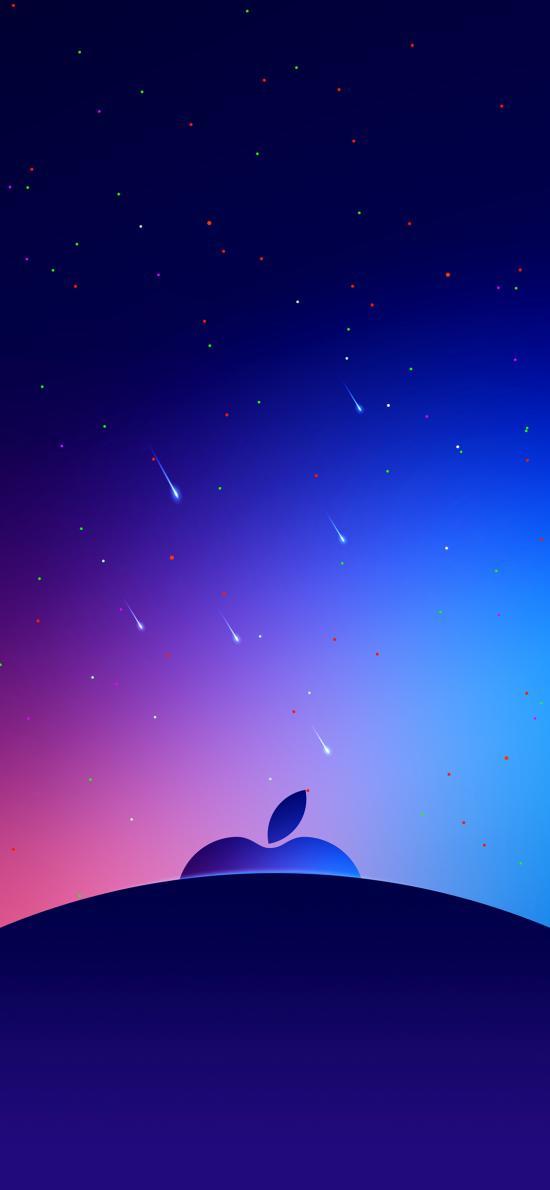 蘋果 logo 品牌 商標 星空