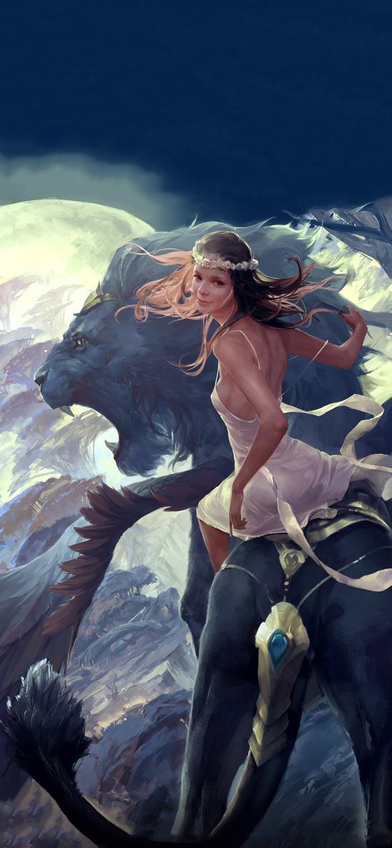 卡牌游戲 LEGEND OF THE CRYPTIDS 獅子 史詩奇幻