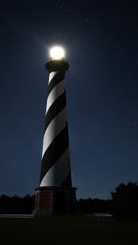 灯塔 建筑 夜晚 天空