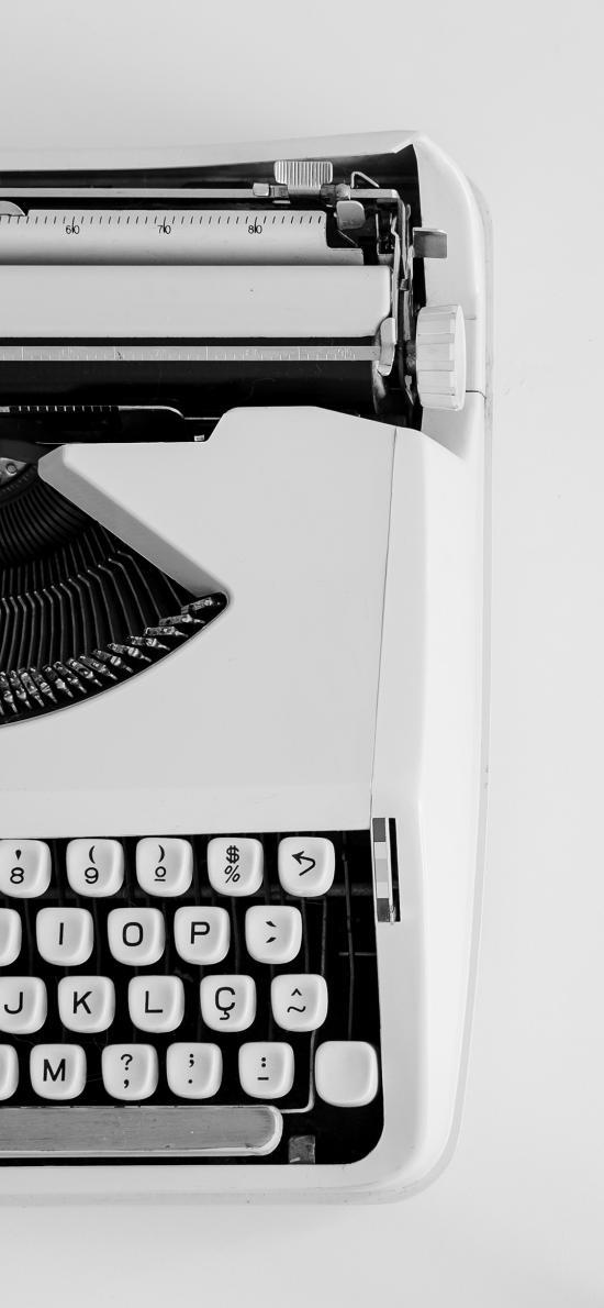 静物 打字机 黑白 复古