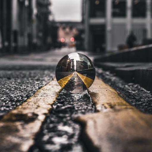 玻璃球 马路 道路 城市