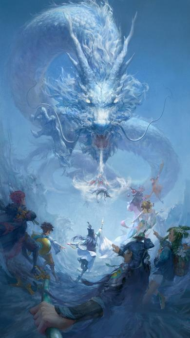 游戏 插画 恶龙 决战