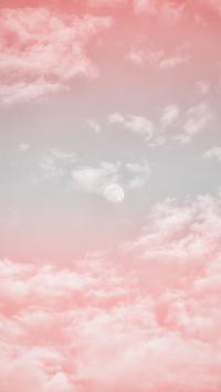 月亮 云彩 渐变 天空