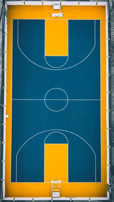 球场 篮球 运动场 航拍
