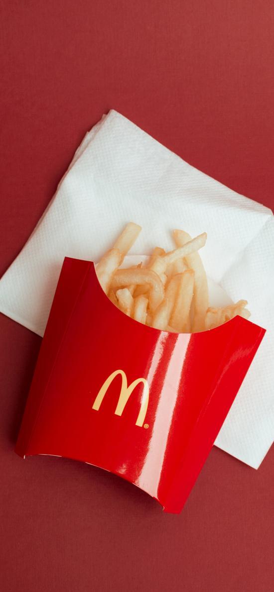 麦当劳 薯条 油炸 M记