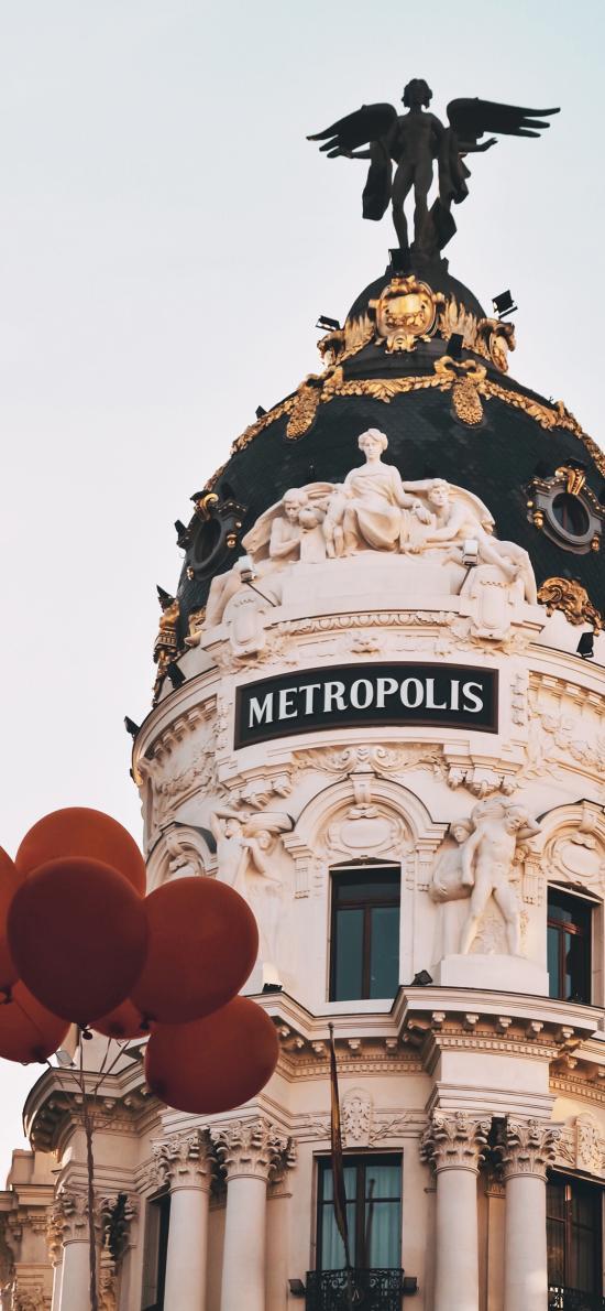 建筑 气球 异域 石像