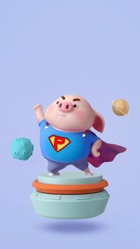 猪小屁 超人 趣味 可爱