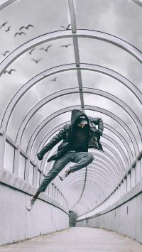 运动 跑酷 隧道 跳跃