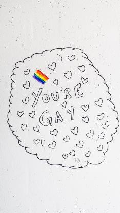 you're gay 爱心 绘画 简约